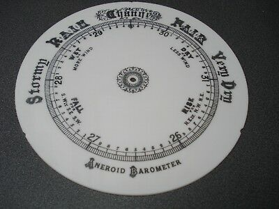 Aneroid Barometer Milk Glas Dial 200 Mm Dia Parts Spares