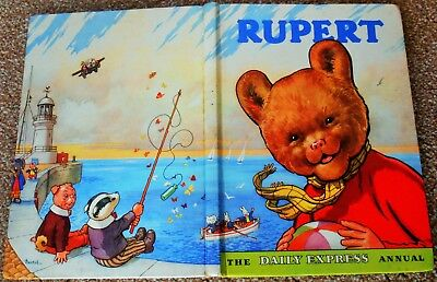 Vintage Original 1959 Rupert Bear Annual, Uprice Unclipped 5/-