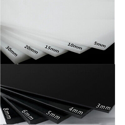 HDPE Sheet Black White Polyethylene Engineering Plastic Sheet 3mm 4mm 5mm Thick