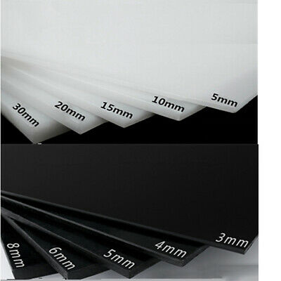 HDPE Sheet White Black Polyethylene Engineering Plastic HDPE Plate 3mm 4mm 5mm