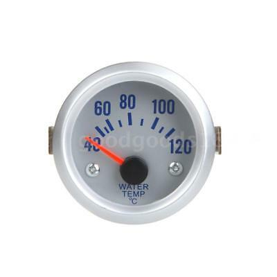 2inch 52mm Car Water Temp Gauges Temperature Meter With Sensor Blue Light F2T4