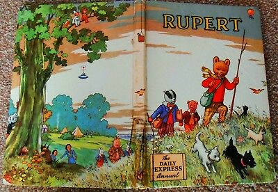 Vintage Original 1955 Rupert Bear Annual, Price Unclipped 4/6 Unscribed