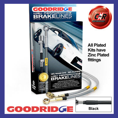 Mazda MX-5 NB Big brake 98-05 Plated Black Goodridge Brake Hoses SMA0111-4P-BK