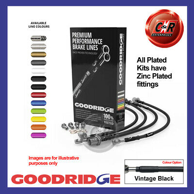 BMW 3 Series E92 330d SE 08- Plated V.Black Goodridge Brake Hoses SBW0260-6P-VB