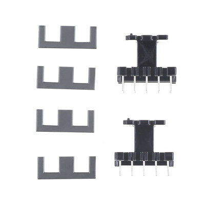 5Set PC40 EE25 5+5pins Ferrite Cores bobbin, transformer core, inductor coil I