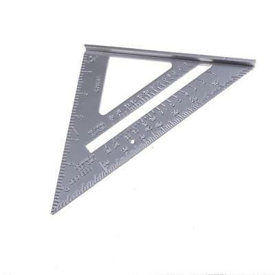 """Alloy Speed Square 7"""" Combination Protractor Miters Framing Measuring Tool I"""