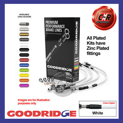 Ford Galaxy 1 2.0L 95-99 Zinc Plated White Goodridge Brake Hoses SFD0170-6P-WT