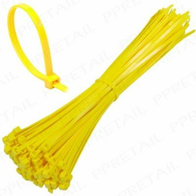 Neon Yellow Plastic Nylon Cable Ties Long Wide Extra Large Zip Tie Wrap Colours