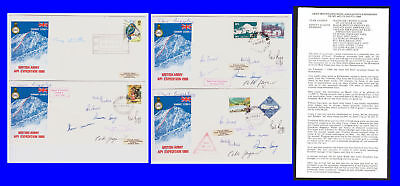 British Army API Expedition Covers x 4. 1980. Nepal/GB Stamps. Used. #293ab