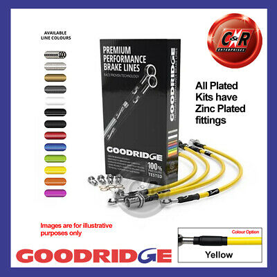 BMW 3 Series E92 320d M Sport 07- PL Yellow Goodridge Brake Hoses SBW0260-6P-YE