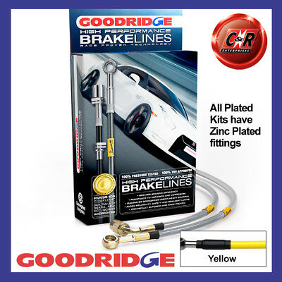 Mazda MX-5 All NC 06-15 Zinc Yellow Goodridge Brake Hoses SMA0110-4P-YE