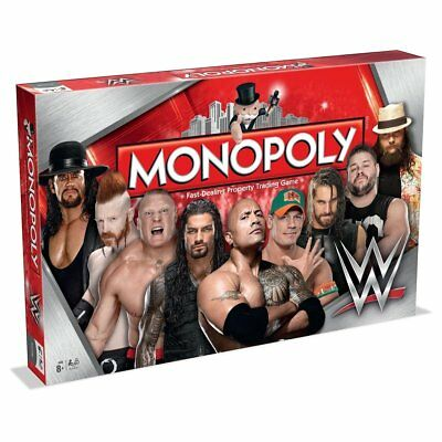 WWE Monopoly Family Board Game New Sealed