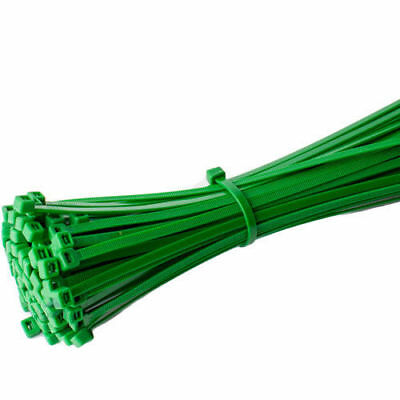 Green Plastic Nylon Cable Ties Long Wide Extra Large Zip Tie Wrap Colours