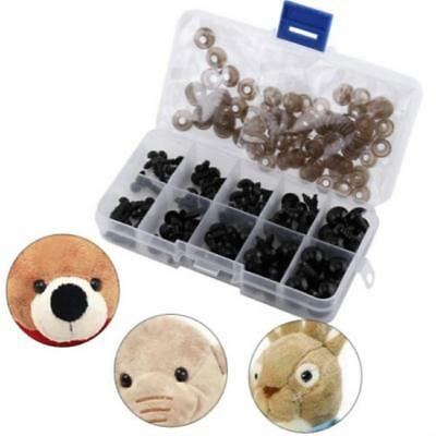 New Black Plastic Safety Eyes for Teddy Bear Doll Making Soft Toys Craft DIY FI