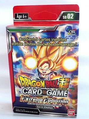 Dragon Ball Super Card Game carte 1 starter pack EXTREME EVOLUTION SD02 VF Neuf