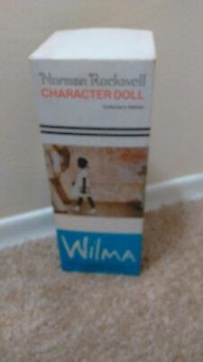 Norman Rockwell African American Ltd Ed WILMA Doll IN BOX Book is missing