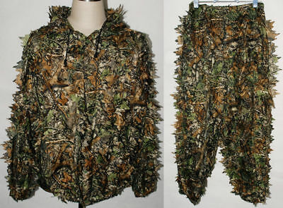 Camo Suit Leaves Set Hunting Airsoft Shooting Camouflage Hunter Brown