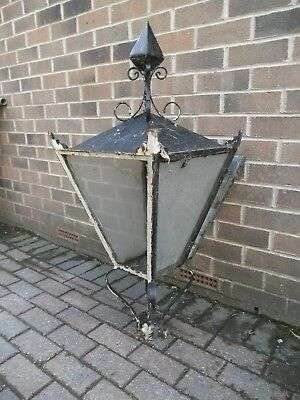 A Very Old Cast Iron Lamp-Post