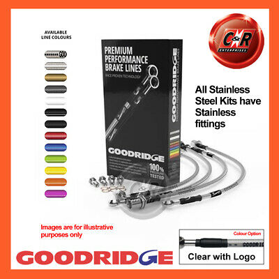 VW Golf MK3 1.4 Rr Discs 92-97 S/S CLG Goodridge Brake Hoses SVW0601-6C-CLG