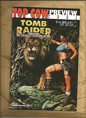 Top Cow Preview #1 2001 Tomb Raider the Greatest Treasure of all Lara Croft