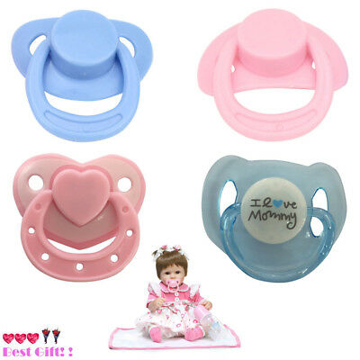 4X Dummy Pacifier With With Internal Magnetic Accessories For Reborn Baby Doll