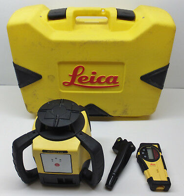 Leica Rugby 610 Self-Levelling Rotary Laser Level With Receiver & Case