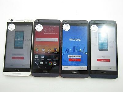 Lot of 4 Cracked  HTC Desire 626s OPM9110 Assorted GSM Check IMEI 4CR-1117