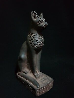 Rare Ancient Egyptian Antiques Bastet Goddess Pharaohs Ubasti Cat Statue Bc