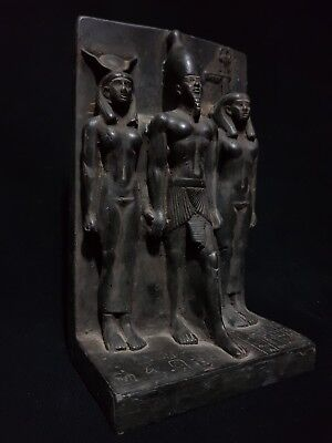 Rare Ancient Egyptian Antiques Statue Of Orisis And Nephthys And Isis 1375 Bc