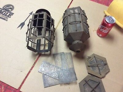 Pair vintage arts and crafts light fixtures , For parts or repair