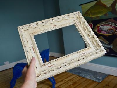 """Superb Vintage Mid Century Carved Wooden Picture Frame 12""""X8"""" Rebate French 50s"""