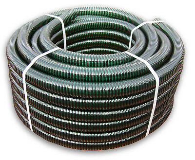Spiral Suction-Delivery Hose Made Of Dark Flexible Corrugated Reinforced PVC