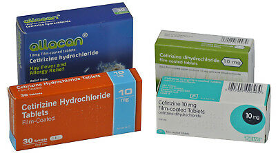 Cetirizine 10mg Hay Fever Allergy Relief (6 x 30 = 180) Antihistamine Tablets