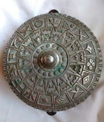 ANTIQUE STAMPED 1889 Mfg. Date WORKING SERVICE DOOR ALARM BELL WHITE BRASS 6""