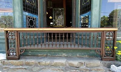 """LARGE PIECE OF VICTORIAN SPINDLED FRETWORK 88""""w"""