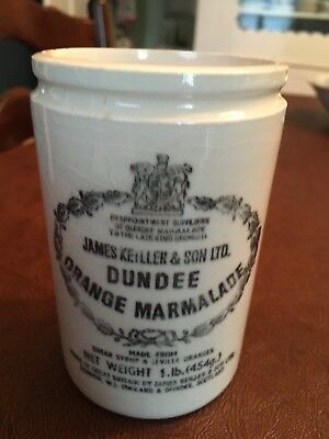 Vintage James Keiller & Son Dundee Orange Marmalade Ceramic Crock  4