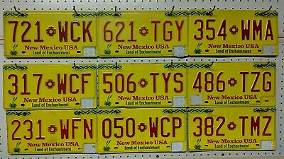 !!! PICK ONE !!! New Mexico Land Of Enchantment License Plate. NM Yellow plate.