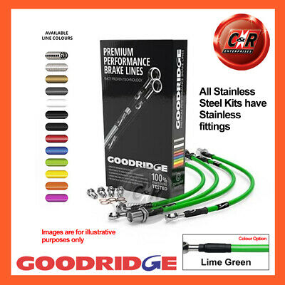 VW Sharan 2 2.0L to ch 7M-1-570 000 00- SS Lime Gr Goodridge Hoses SVW1325-6C-LG