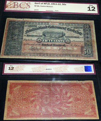 Newfoundland Government Cash Note 50 Cents 1912-13 - ONLY 20K PRINTED!