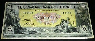 The Canadian Bank Of Commerce 1917 $20  -Chartered Banknote