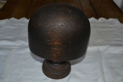 Vintage 1930s Milliners Hat Block, Dark wood, Beautiful Display Piece !