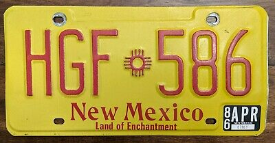 !!! PICK ONE !!! New Mexico Land Of Enchantment License Plate.  Yellow NM Plate