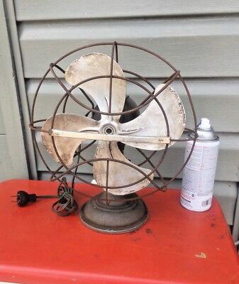 Antique Fan - Westinghouse Livelyaire Fan w/ Oscillation vtg for parts or repair