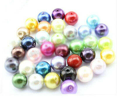 wholesale 50/100/200/400 Pcs Mixed Pastel Glass Pearl Loose Round Spacer Beads