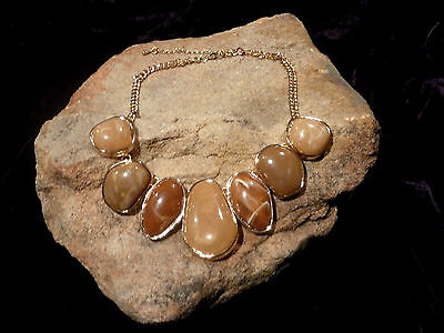 Mother Earth Goddess  Master Healer Honey Calcite  necklace Moon Magic