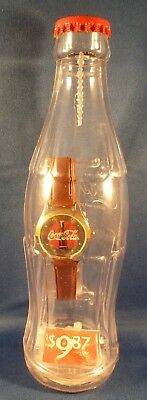 2002 Brand New Coca Cola Watch in Plastic Contour Bottle