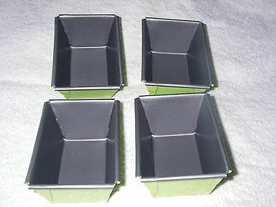 Mini Loaf Tins Set of 4 Non Stick, with Teflon  Non Stick British Made