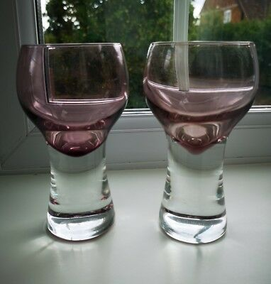 PAIR OF CAITHNESS 'CANISBAY'  LARGE GLASSES DESIGNED BY COLIN TERRIS c1972