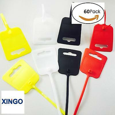 10 Inch Nylon Marker Cable Ties with Cable Tag(Red Yellow White Black) Xingo