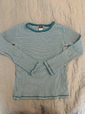 Tea Collection Thermal long sleeve Striped tee t-shirt teal blue